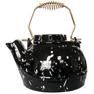 UniFlame 2.5 Quart Porcelain Coated Kettle-Black With White Speckles at Kmart.com