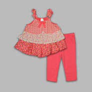WonderKids Infant & Toddler Girl's 2 Pc Tiered Print Top & Pants Set at Kmart.com