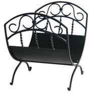 UniFlame Black Wrought Iron Log Rack W/ Scrolls at Kmart.com