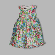 Holiday Editions Infant & Toddler Girl's Watercolor Floral Ruffled Sleeveless Dress at Kmart.com