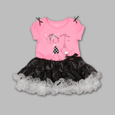 WonderKids Infant & Toddler Girl's Ruffled 2 Pc Ooo Lala So Cute Dress Set at mygofer.com