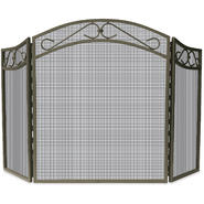 UniFlame 3 Fold Bronze Wrought Iron Arch Top Screen withi Scrolls at Kmart.com