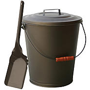 UniFlame Bronze Finish Ash Bin With Lid And Shovel at Kmart.com