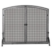 UniFlame Single Panel Olde World Iron Screen with Doors, Medium at Kmart.com