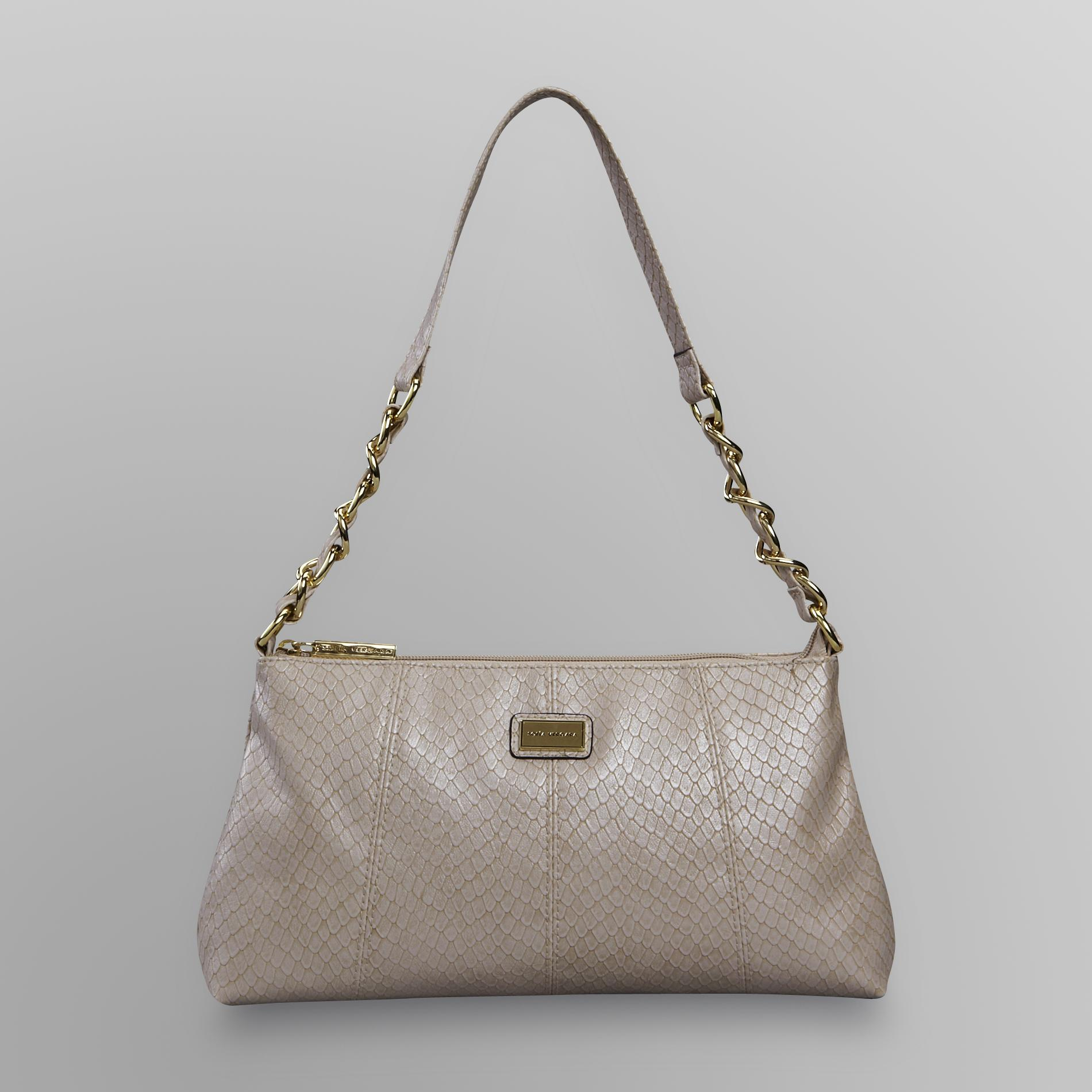 Women's Shoulder Handbag - Faux Snakeskin