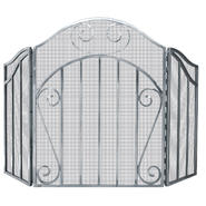 UniFlame 3 Panel Heavy Pewter Screen with Decorative Scroll at Kmart.com