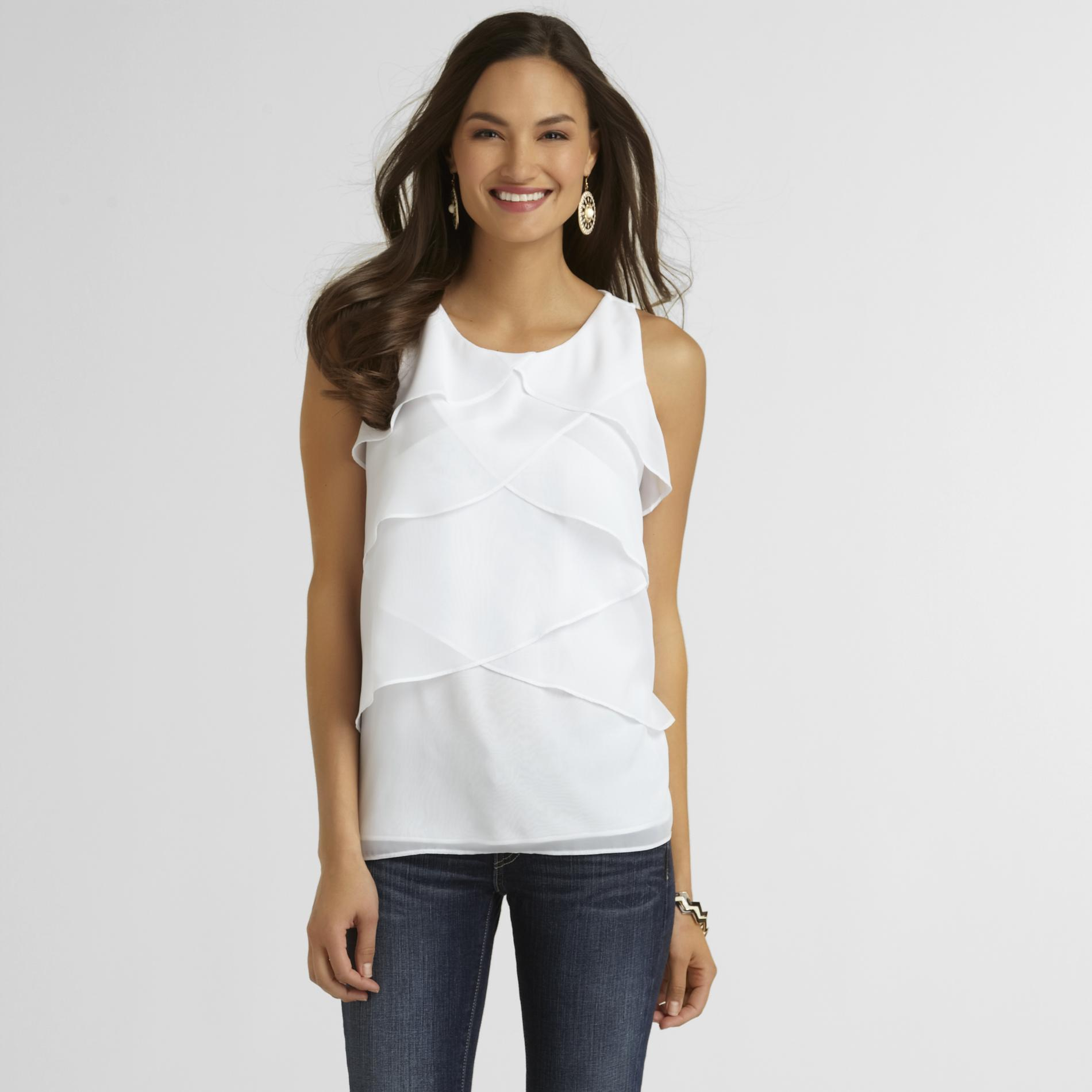 Covington Women's Sleeveless Ruffled Top at Sears.com