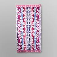 Essential Home Jacquard Beach Towel - Damask at Kmart.com
