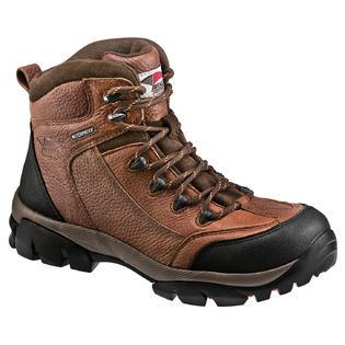 Avenger Safety Footwear Men's Composite Toe Electrical Hazard Waterproof Hiker Brown