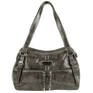 Sag Harbor Women's Catamount Faux Crocodile Satchel Handbag at Sears.com