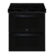"Kenmore Elite 30"" Double-Oven Slide-In Electric Range w/ Convection  - Black at Sears.com"
