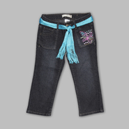 Route 66 Girl's Belted Lace Applique Capris at Kmart.com