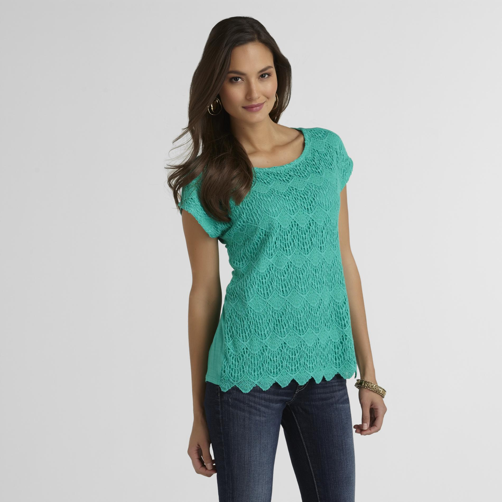 Covington Women's Lace-Front Top at Sears.com