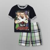 WWE WWE Superstars Boy's T-Shirt & Shorts at mygofer.com