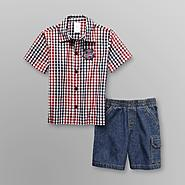 WonderKids Infant & Toddler Boy's Plaid Shirt & Shorts at Kmart.com
