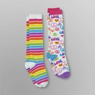 Joe Boxer Girl's Knee Socks - 2 Pair at Kmart.com