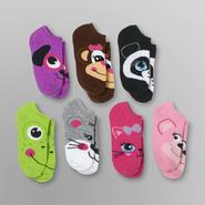 Joe Boxer Girl's Animal No-Show Socks - 7 Pair at Sears.com