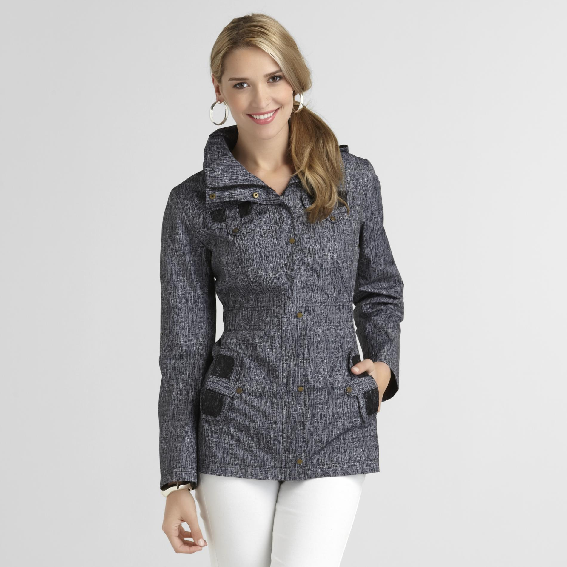 H2J Women's Hooded Jacket - Broken Stripes at Sears.com