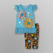 SWAK Girl's Rosette Dress & Leggings - Floral at Sears.com