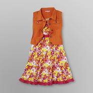 SWAK Girl's Denim Vest & Dress at Sears.com