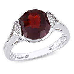 Amour 0.03 Carat T.W. Diamond and 3 3/8 Carat T.G.W. Garnet Fashion Ring in Sterling Silver GH I2;I3 at Kmart.com