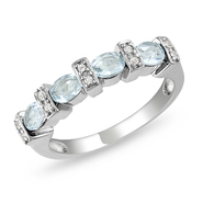 Amour 0.05 Carat T.W. Diamond and 1 Carat T.G.W. Blue Topaz Fashion Ring in Sterling Silver GH I3 at Kmart.com