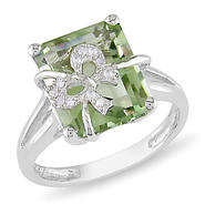 Amour 0.04 Carat T.W. Diamond and 5 1/3 Carat T.G.W. Green Amethyst Fashion Ring in Sterling Silver I3 at Sears.com