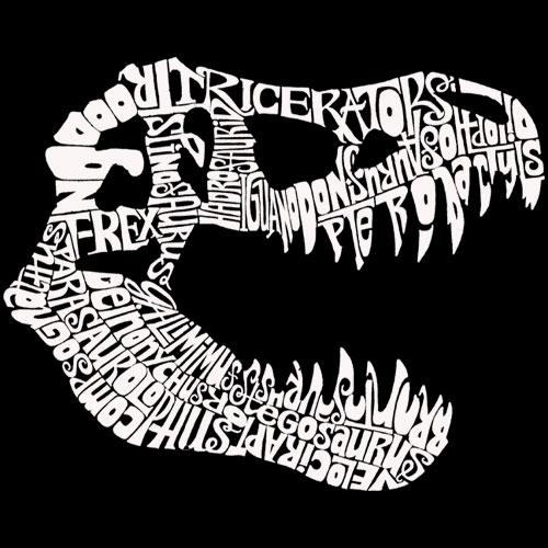 Los Angeles Pop Art Men's Word Art Hoodie - Trex PartNumber: 046VA55505012P MfgPartNumber: HTREXBlackL