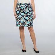 Basic Editions Women's A Line Floral Print Twill Skirt at Kmart.com