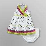 Small Wonders Infant Girl's Ribbon Halter Dress - Polka Dot at mygofer.com