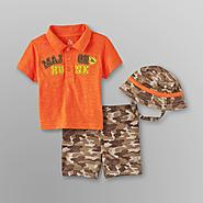 Small Wonders Infant Boy's Polo Shirt, Shorts & Hat - Major Hunk at Kmart.com