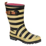 Chooka Women's Fashion Rain Boot - ALLURE STRIPE - Black/White at Sears.com
