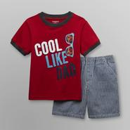 Toughskins Infant & Toddler Boy's T-Shirt & Shorts - Cool Like Dad at Sears.com