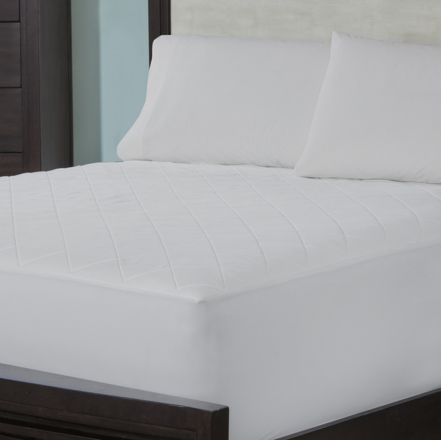 Wellrest quilted memory foam mattress pad twin Memory foam mattress topper twin