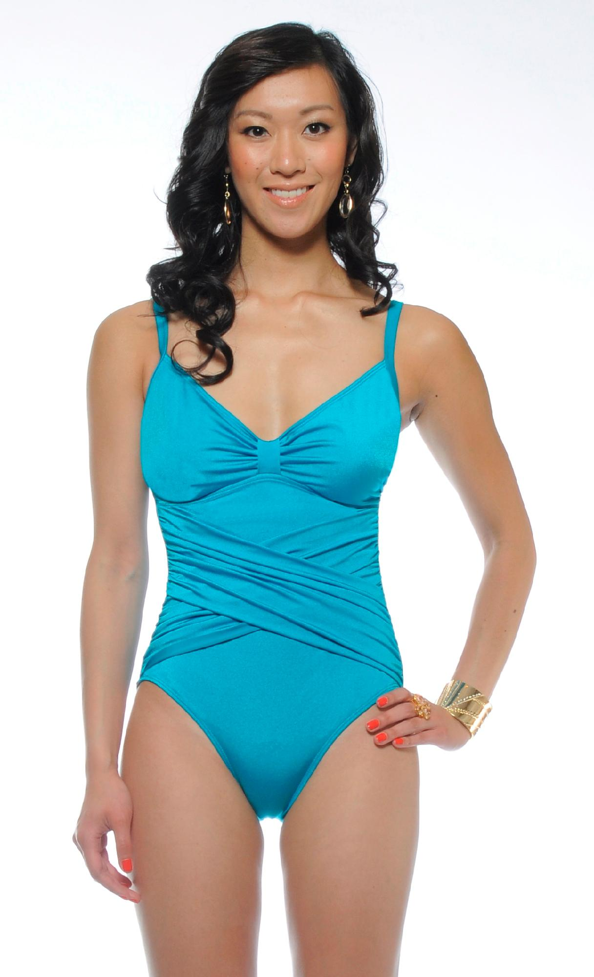 Jordan Taylor® Women's Plus Over Shoulder 1 Piece Swimsuit- Online Exclusive at Kmart.com