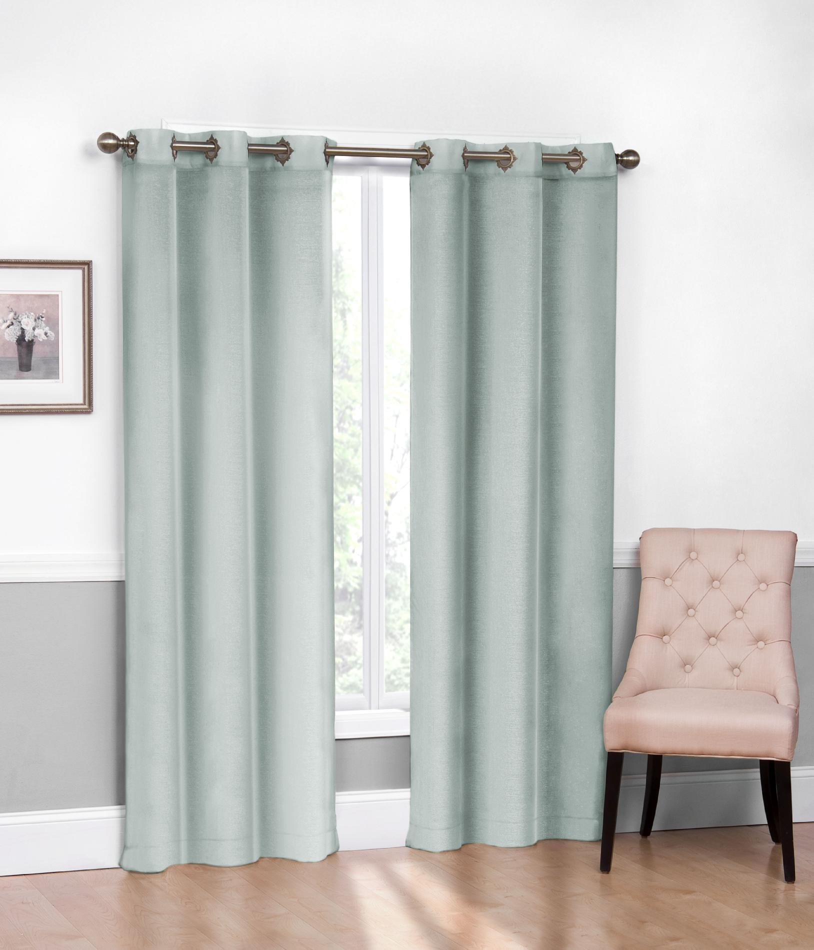 2 Pack Fancy Grommet Curtain Window Panels