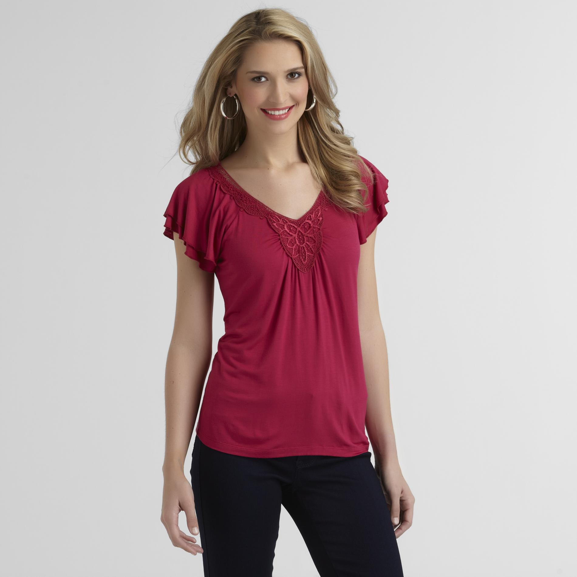 Covington Women's Crochet-Neck Top at Sears.com