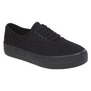 Bongo Women's Casual Canvas Shoe - Benchwarmer - Black at Sears.com