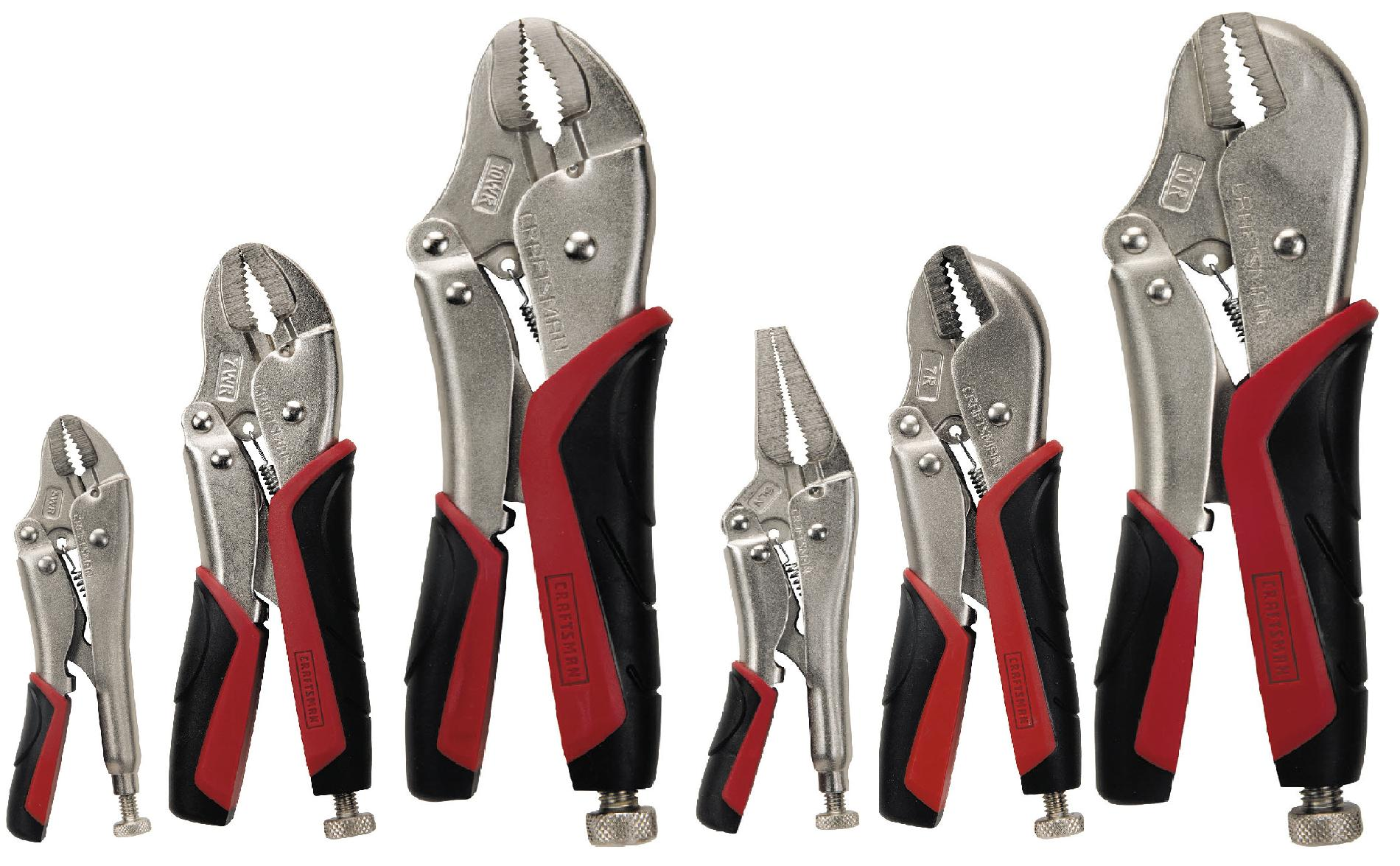 6 pc. Locking Pliers Set, Easy Release