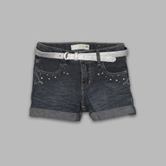 Route 66 Girl's Belted Cuff Denim Shorts at Kmart.com