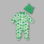 Small Wonders Infant Boy's 2 Pc Frog Printed Sleeper and Hat Set at Kmart.com