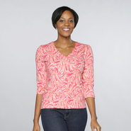 Sapphire Star Women's Printed V-neck Top at Kmart.com