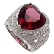 Grand Luxe Simulated Raspberry Sapphire Rhodium Plated Ring at Sears.com