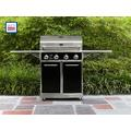 4-Burner Gas Grill with Folding Side Shelves