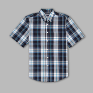 Basic Editions Men's Button-up Plaid Shirt at Kmart.com