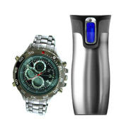 Structure Men's Watch & Travel Mug Bundle            ...