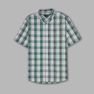 Basic Editions Men's Short Sleeve Easy Care Plaid Button Shirt at Kmart.com