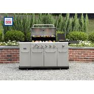 Kenmore 6 Burner Stainless Steel front Gas Grill With Smoker at Kmart.com