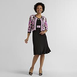Women's Knit Dress & Jacket - Medallion at Kmart.com