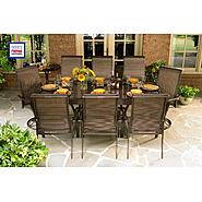 La-Z-Boy Outdoor Tristan 10 Pc. Dining Set with Expanding Table at Kmart.com